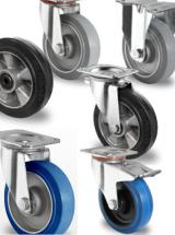 Wielen loopvlak : Elastisch rubber