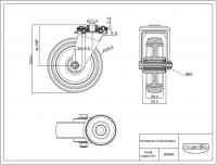 Zwenkwiel 125x38mm R4E1B34