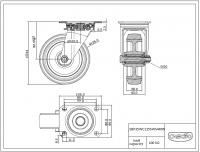 Zwenkwiel 125x38mm SWS4R0N