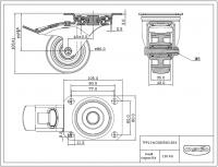 Zwenkwiel met rem 100x35mm R4E1B34